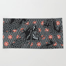 Hidden Dragon / Oriental dragon design Beach Towel