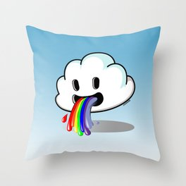 Barf The Cloud Throw Pillow