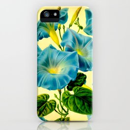 Blue Morning Glories iPhone Case