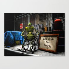 Will Work For Energy Canvas Print