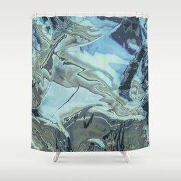 chrome flo tho Shower Curtain