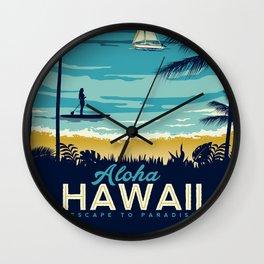 ALOHA  HAWAII Wall Clock