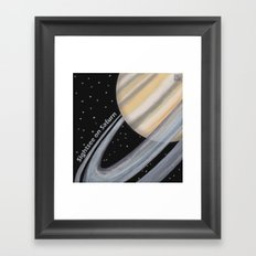 Sightsee On Saturn Framed Art Print
