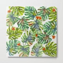 Palm Leaves Pattern 1 Metal Print