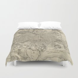 Vintage Map of Baltimore MD (1919) Duvet Cover