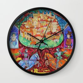 Middle Ages Wall Clock
