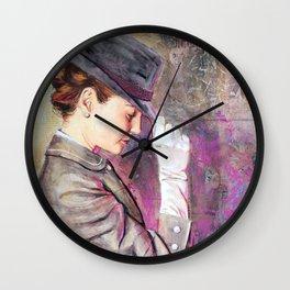 Grey Fedora Wall Clock