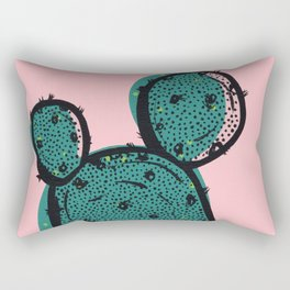 Pink Pastel Cactus Rectangular Pillow