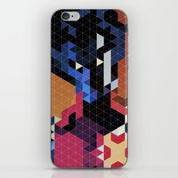 nightcrawler iPhone & iPod Skins featuring Geometric Nightcrawler by Head Glitch