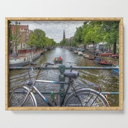 Amsterdam Bridge Canal View Serving Tray