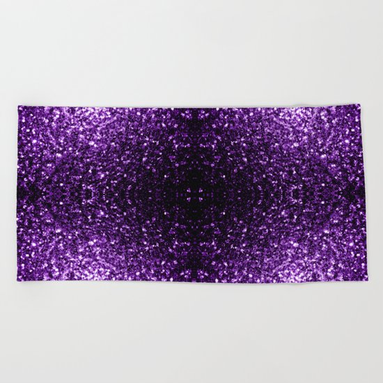 Beautiful Purple glitter sparkles Beach Towel