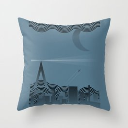 une nuit à paris (blue version) Throw Pillow