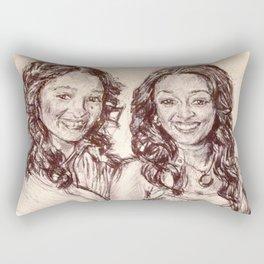 Tia & Tamera Rectangular Pillow
