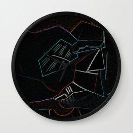 Cubist Trails Wall Clock