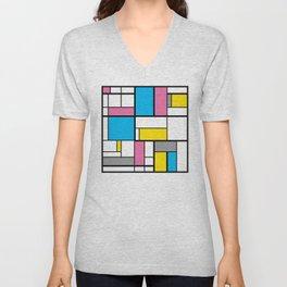 New Mondrian Color Art Unisex V-Neck