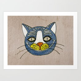 cat smile Art Print