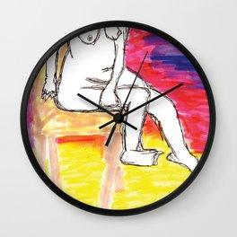 Sore Leg Wall Clock