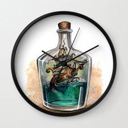 Ship in a bottle Wall Clock