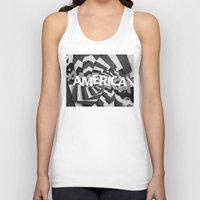 america Tank Tops featuring America by politics