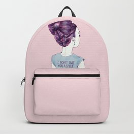 i don't owe you a smile Backpack