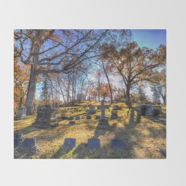 Sleepy Hollow Cemetery New York Throw Blanket