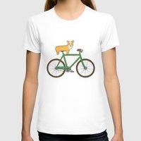 T-shirts featuring Corgi on a bike by Joe Van Wetering