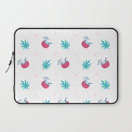 Cute trendy pink teal tropical summer drink floral pattern Laptop Sleeve