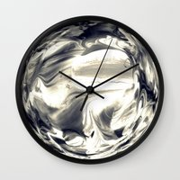 globe Wall Clocks featuring Watercolor Globe by Rose Etiennette