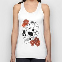 sugar skull Tank Tops featuring Sugar Skull by Tanya Thomas