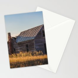 Falling Farm House, North Dakota 14 Stationery Cards
