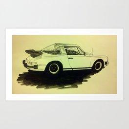 Porsche 911 SC Turbo Art Print