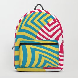Colorful distorted Optical illusion art Backpack