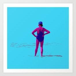 En la orilla Art Print