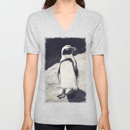 African Penguin - Animal Photography #Society6 Unisex V-Neck