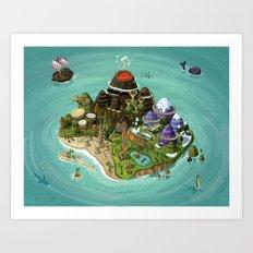 Rock Island Art Print