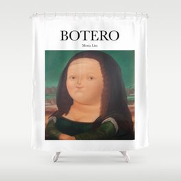 Botero - Mona Lisa Shower Curtain