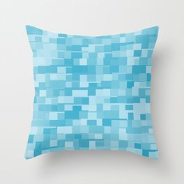 abstract square mosaic background Throw Pillow