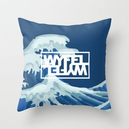 Wyfel Blue Throw Pillow