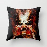 predator Throw Pillows featuring Predator by Sirenphotos