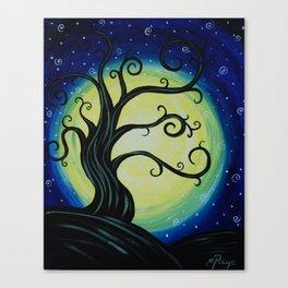 Funky Tree at Midnight Canvas Print