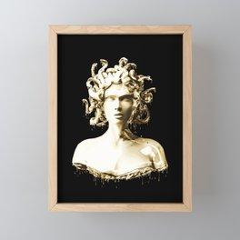 Gold Medusa Framed Mini Art Print