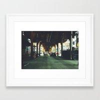 gotham Framed Art Prints featuring Gotham by Lily Ly