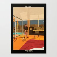 babina Canvas Prints featuring Sellers Neutra by federico babina