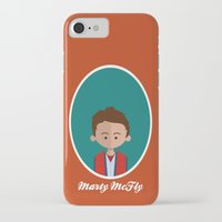 mcfly iPhone & iPod Cases featuring Marty McFly by Juliana Motzko