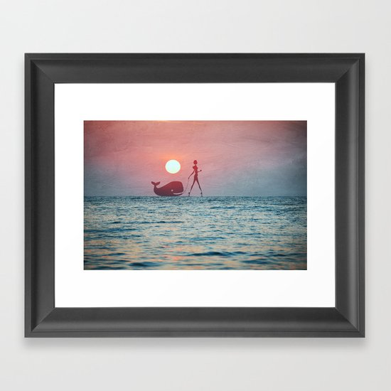 Whale Walk Framed Art Print