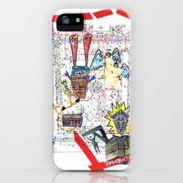 Crazy city map (collage) iPhone Case