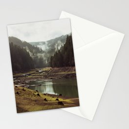 Foggy Forest Creek Stationery Cards
