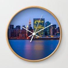 Beginning of the night over Manhattan Wall Clock