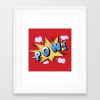 superheroes Framed Art Prints featuring superheroes by mark ashkenazi