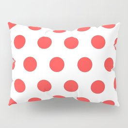 red polka dots Pillow Sham